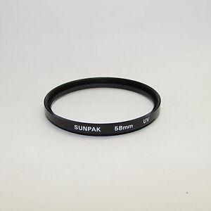 Genuine Sunpak UV 58 mm Lens Filter Made in Japan S311455