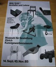 SWISS EXHIBITION XXL POSTER 1985 - WILLY GUHL - DESIGNER AND TEACHER art print