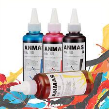 4Bottles/Set 100ml Cartridge Refill Ink Fit All Printer Bottle Dye Ink ~4 Color