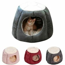 Warm Cat House Kennel Nest Winter Sleeping Bag Semi Closed Tent Small Medium Dog
