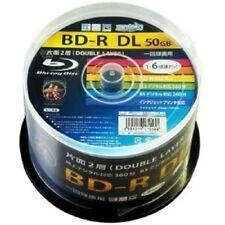 50 Hi-Disc Blu-ray BD-R DL 50GB 6x Speed White Inkjet Printable w/ Tracking NEW