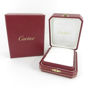 GENUINE CARTIER RING JEWELLERY BOX DOUBLE TWIN RED WHITE LOVE TRINITY PANTHÈRE