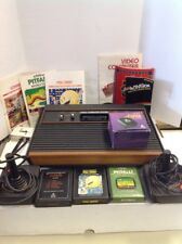 Atari 2600 4 Switch Woody-Tested-Controllers, Manuals, 3 Games ALL WORKING