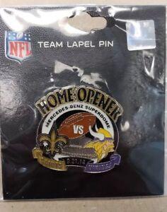 MINNESOTA VIKINGS vs NEW ORLEANS SAINTS 9/21/14 Game Day Pin HOME OPENER
