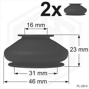 rubber ball joint dust cover universal 2 x 16/31/23 boots track rod end Car Van