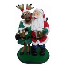 Weichnachten Rudolf Renntier Figur Statue Weihnachtsmann Figuren Dekoration 58cm