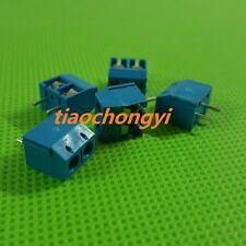 2Pin 2P Screw blue PCB Terminal Block Connector 5mm Pitch New 100pcs