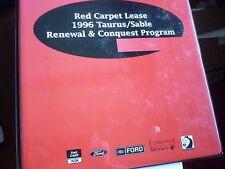 1996 FORD TAURUS RED CARPET LEASE DEALERSHIP ALBUM
