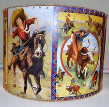 "NEW Colorful Cowgirl Lamp Shade, 16"" x 16"", Western Decor"