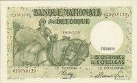 Vintage Banknote Belgium Choice UNC 1945 50 Francs Pick 106 US Seller