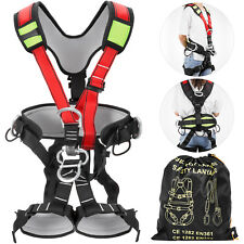 Full Body Safety Harness Protection Climbing Rappelling Rescue Caving Gear