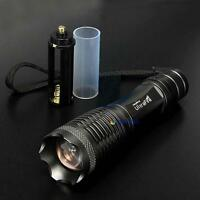 8000LM X-XML T6 LED Zoomable Flashlight Torch Lamp Light 18650 Battery MTC