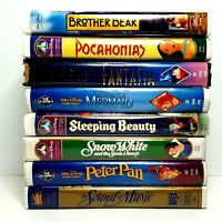 8 Disney VHS Tapes Lot Children's Movies Brother Bear Little Mermaid Snow White