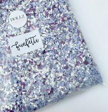 Biodegradable Wedding Confetti White Ivory Lilac Purple Funfetti Paper Tissue 1L