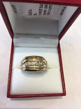 10 Kt Gold & Diamond Gents Ring