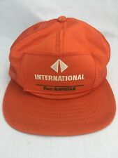 Vintage International Navistar Orange Snapback Trucker Hat Cap Patch Swingster