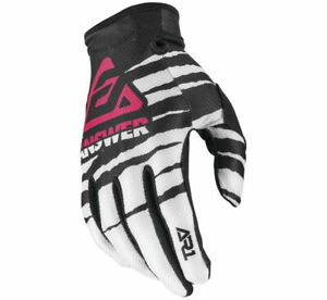 Answer Racing Men's A20 AR1 ProGlo Gloves White/Black/Pink