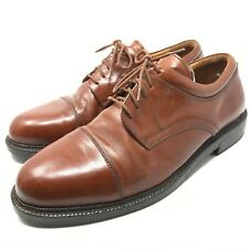Johnston Murphy Passport Mens Leather Derby Dress Shoes Size 10 Brown Lace Up