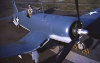 "WWII photo Lyman Bullar in the cockpit of the F4U-1 ""Corsair"" world war 14a"