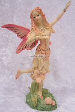20cm Pink Dancing Tiara Fairy Ornament For Garden, Birthday Cake Topper FE327B