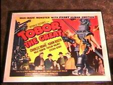 TOBOR THE GREAT 22X28 MOVIE POSTER '54 HORROR LINEN