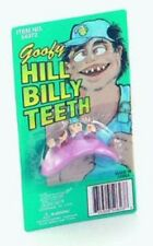 New Fake Hill Billy Red Neck Hick Teeth Fancy Dress Goofy Billy Bob P87