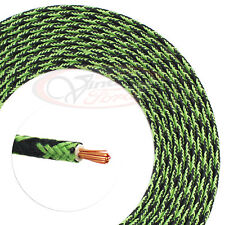 ANTIQUE CLOTH WIRE VINTAGE CAR TRUCK WIRING 16 FT 14 GA USA GREEN & BLACK