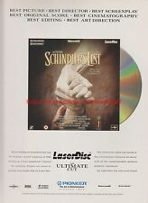 Schindler's List Laser Disc The Ultimate Cut 1999 Magazine Advert #7639