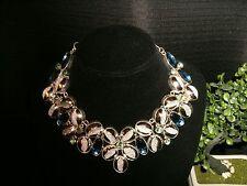 necklace coated druzy druzy 925 Silver Cleopatra cluster bib adjustable