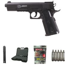 Pack colt 1911 airsoft +2 chargeurs + 10 cartouches co2+malette + 5000 billes