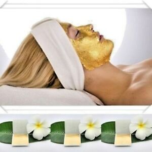 20 sheet 24k 100% pure gold leaf facial mask Anti-aging spa Edible Striking .A9