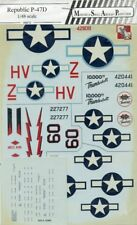 MSAP Decals 1:48 Republic P-47 D Decal Sheet #4815U
