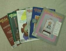 Tole World Magazine 6 Issues 1990 Tole Decorative Painting Instructions Patterns