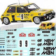Renault 5 Turbo Rallye Monte Carlo 1982 Saby Sappey #9 1:24 Decal Abziehbild