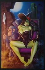 Oz - Sexy Wicked Witch Print Signed by Elias Chatzoudis