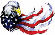 "Patriotic Eagle American Flag 10"" Premium Vinyl Bumper Sticker Decal USA"