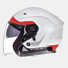 Casco MT Avenue SV crossroad blanco-rojo talla L