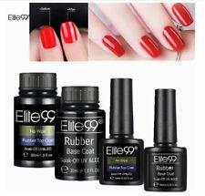 Elite99 Rubber Base No Wipe Top Coat UV LED Gel Nail Polish Soak Off Nail Art UK