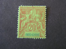 INDO-CHINA, SCOTT # 12, 20c. VALUE RED/GREEN 1892-1900 ISSUE MNG