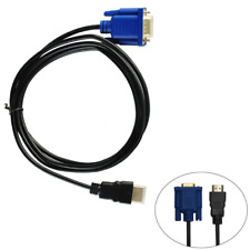New 1.8M HDTV HDMI Male to VGA adapter Cable connector cable for PC TV Black