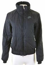 NIKE Womens Bomber Jacket UK 10/12 Medium Black Polyester  HX26