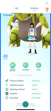 Pokemon account 40 Level Go 186 shiny 259 Legendary