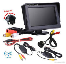 """2.4GHz Wireless 360° Rotatable Reverse Parking Camera + 4.3"""" LCD Display Monitor"""