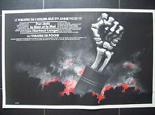 belle affiche théatre Jacques Richez Hartmunt Lange Bruxelles 1977