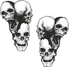 2x Stickers Skull for Motorcycle Truck Bike Moto Car Bumper Helmet Truck #18