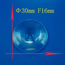 2PC 30mm Dia Small Round Plastic Fresnel Condensing Light Lens Focal Length 16mm