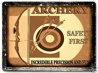 ARCHERY Bow and arrow METAL sign VINTAGE style kids room wall decor PLAQUE  322