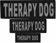 THERAPY DOG  Patch Reflective Extra Label Tag for Dog Harness Service