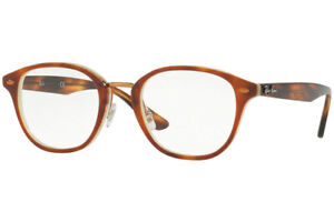 NEW Authentic Ray Ban RX5355-5677 Havana Brown Horn Beige Eyeglasses 48-21-145