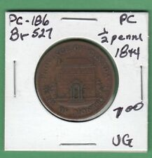 1844 Bank of Montreal 1/2 Penny Token - Br527 - VG